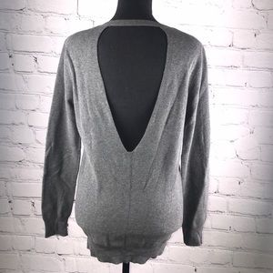 UEC Gray Piperlime crewneck cotton sweater small
